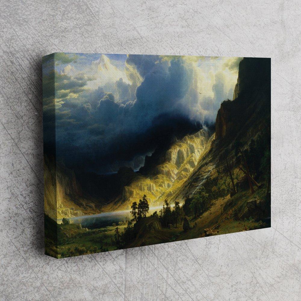 Albert Bierstadt - Rocky Dağı'ndaki Fırtına