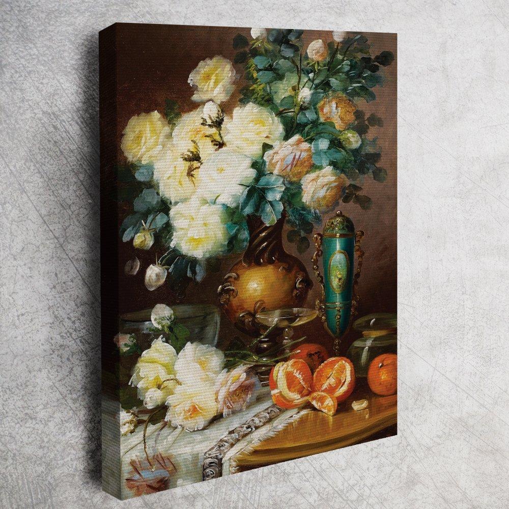 Albert Carlier - Vazodaki Çiçekler