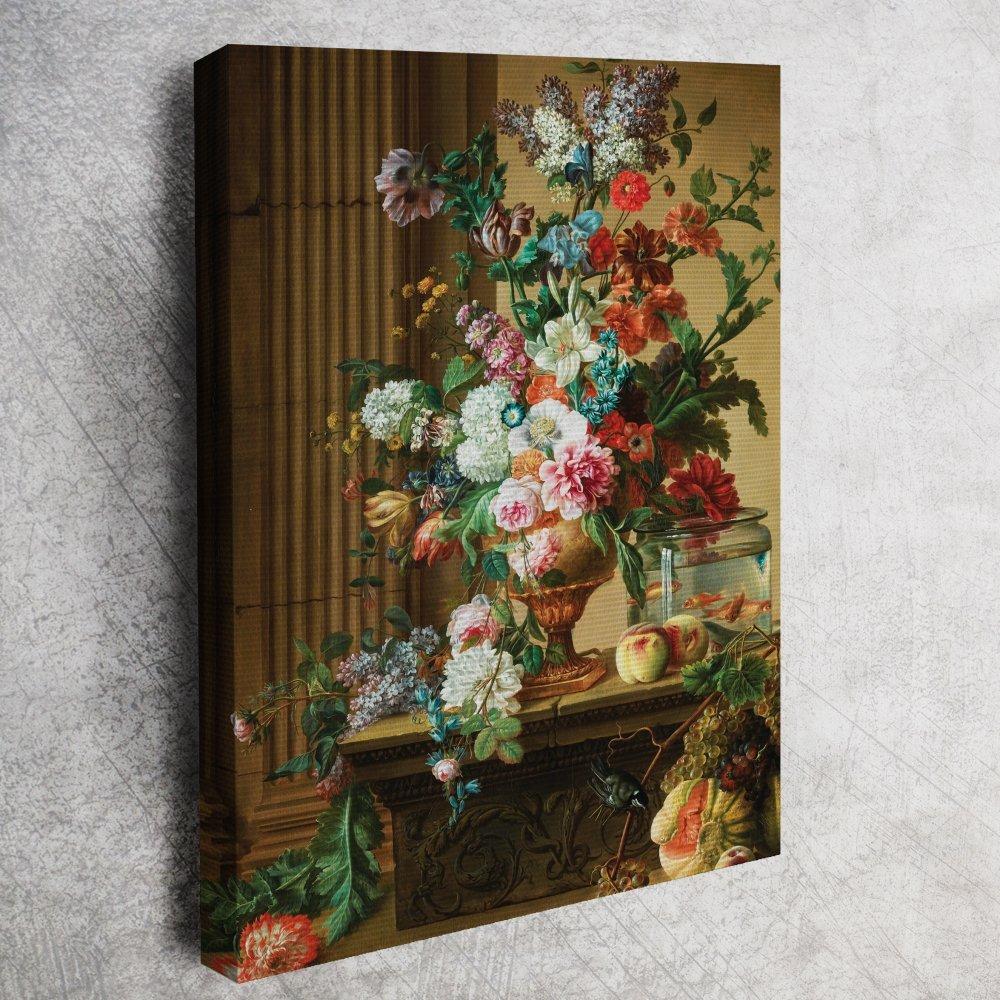 Willem Van Leen Yağlı Boya çiçek Tablosu Reprodüksiyon Willem