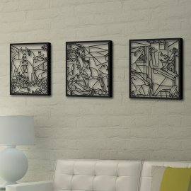 Picasso - Guernica - Metal Wall Art Decor - Reprography AWD-017